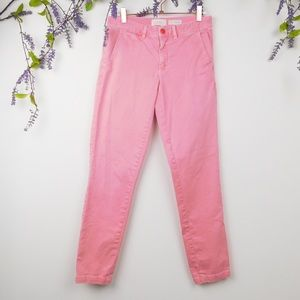 Anthropologie Pink Relaxed Chinos